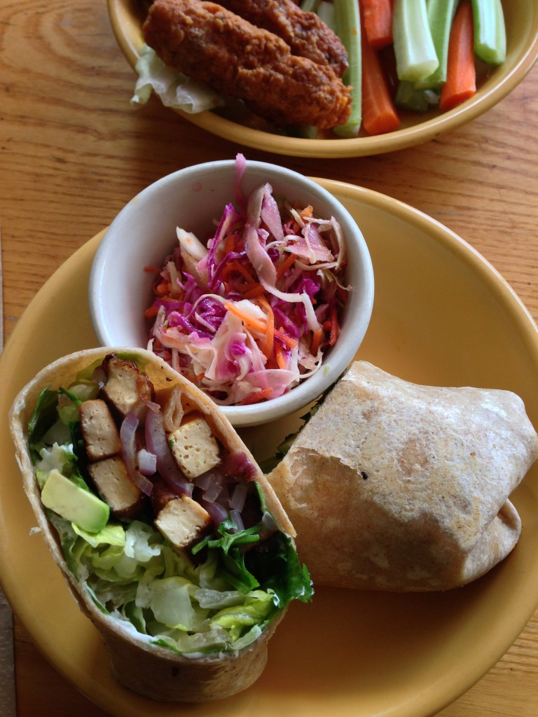tofu avocado wrap at rosettal's kitchen