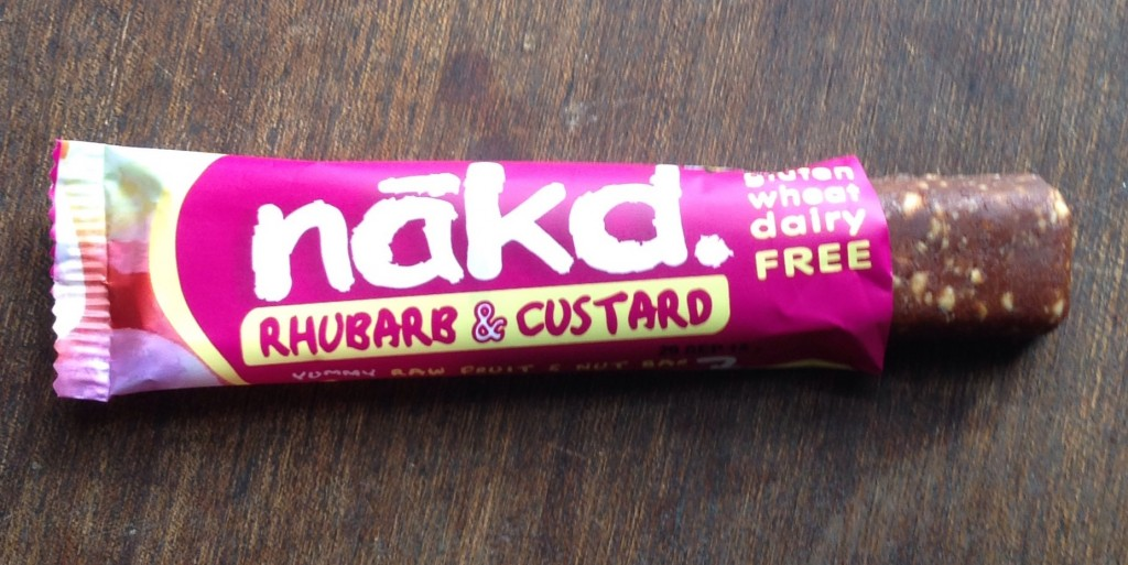 nakd snack bar rhubarb and custard