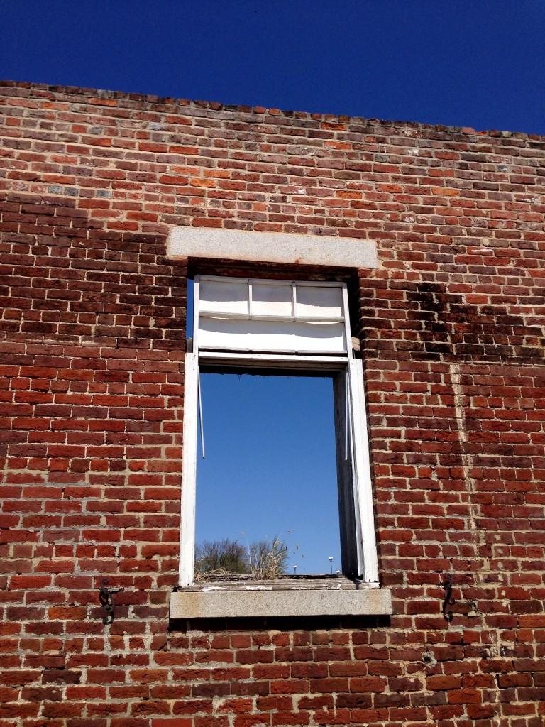 old brick facade in petersburg virginia