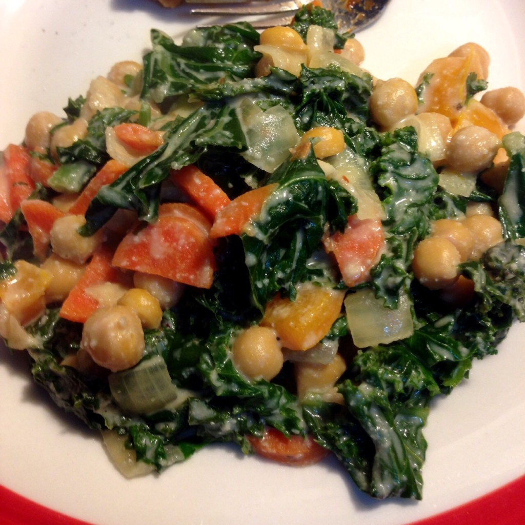 cosmic kale and chickpeas