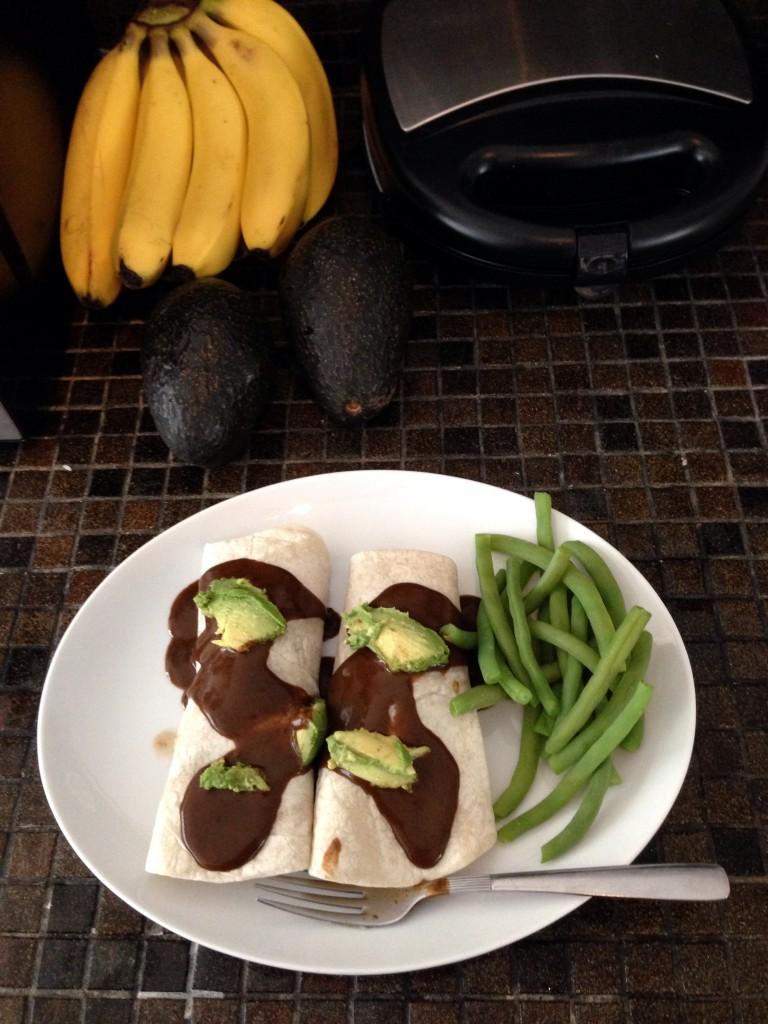 vegan potato enchiladas mole