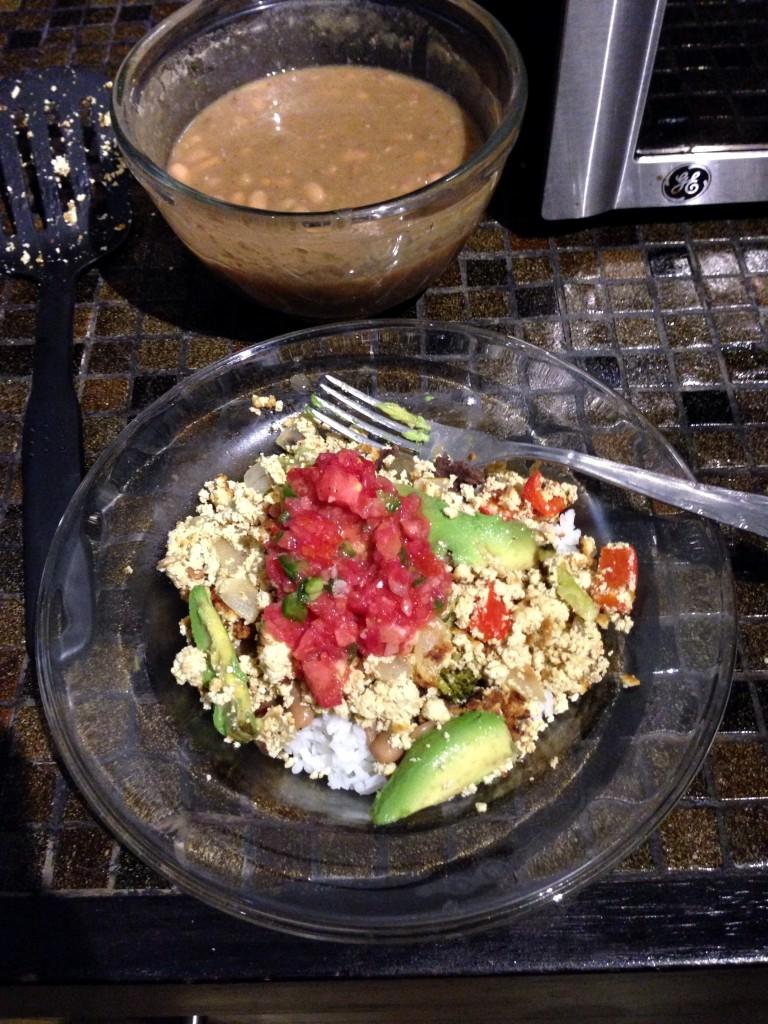 vegan tofu scramble mexican style